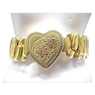 Gold Filled Sweetheart Expansion Bracelet - Bellavance