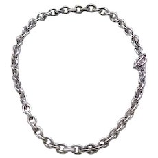 Sterling Silver Curb Chain Necklace - 58 Grams