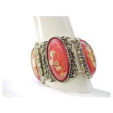 01 - Big Bold Confetti Lucite Bracelet, Earrings
