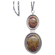 Incredible Double Pendant Sterling Silver Brecciated Jasper