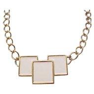 Chunky Mod Monet Enamel Necklace, Earrings