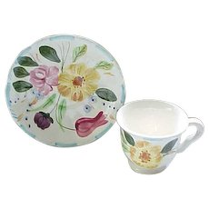 Blue Ridge Grandmother's Garden Demi Cup and Saucer