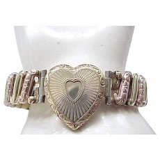 Lustern Sweetheart Expansion Bracelet - Heart Center