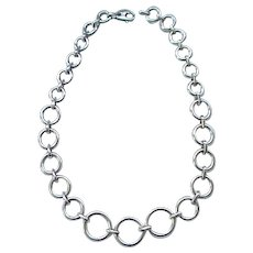 Beautiful Sterling Silver Necklace - Circles