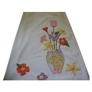 08 - Catherine Carr Long Skirt with Hand Appliqued Flowers - Medium