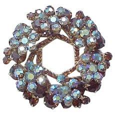 Juliana Flower Spray Pin Brooch and Earrings - Gorgeous