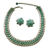 02 - Elegant Hobe' Necklace, Clip Earrings