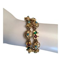 02 - Pretty Bracelet  Multi Color Rhinestones