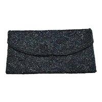 10 - Exquisite Beaded Clutch Bag Purse - Iridescent Blue