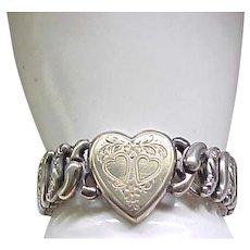 Pitman and Keeler Sweetheart Expansion Bracelet - Sterling Base