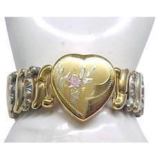 Co-Star Sweetheart Expansion Bracelet with Heart Center