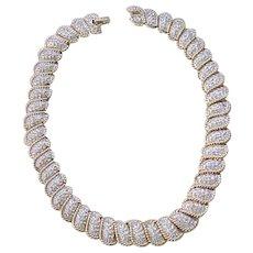 Elegant Carolee Rhinestone Necklace and Earrings - Bridal