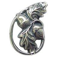 Danecraft Sterling Acorn Earrings, Pin