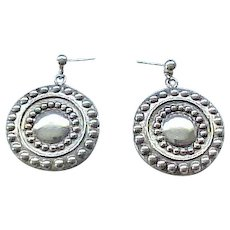 Awesome Sterling Silver Drop Earrings - Pierced Ears