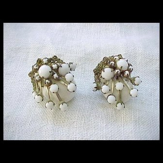 11 - Gorgeous Miriam Haskell Earrings - Sea Shell Motif
