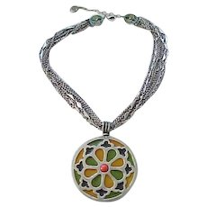 Colorful Ben Amun Enameled Necklace