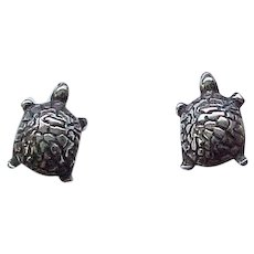 11 - Sterling Silver Turtle Earrings