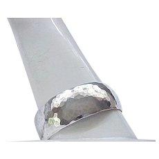 Sterling Silver Bracelet Hammered Finish - Lovely
