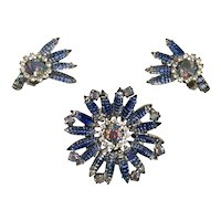 Juliana Pin, Earrings Carved Stones Blue - Exquisite