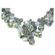 Spectacular Juliana Black Diamond and Crystal Necklace, Earrings - Fantasia