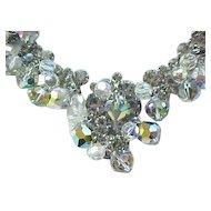 Spectacular Juliana Black Diamond and Crystal Necklace, Earrings - Fantasia