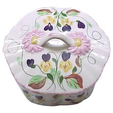 Beautiful Blue Ridge China Box - Dogtooth Violets - Southern Potteries