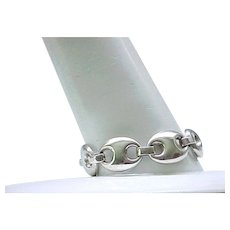Chunky Sterling Silver Bracelet - Superb Design