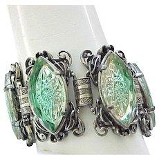 Incredible Bracelet, Earrings - Molded Glass Elizabeth Morrey