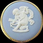 12 - Wedgwood Pin/Pendant - Cupid (Eros) -  Box