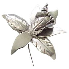 Sterling Silver Calla Lily Pin Brooch