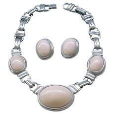 Ben Amun Chunky Necklace and Ear Clips