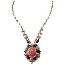 Rare Beautiful Juliana Coral Matrix Necklace - Book Piece