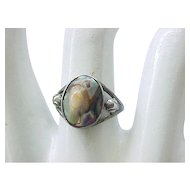 02 - Sterling Silver Ring with Blister Pearl