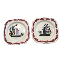 2 Brittany Blue Ridge Square Plates