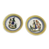 Pair Blue Ridge Pottery Lyonnaise Coasters/Butter Pats