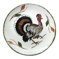 Blue Ridge Pottery Turkey Plate - 10 3/8 inches