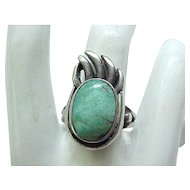 Native American Sterling & Turquoise Ring