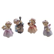 01 - 4 Piece Lefton Angel Band - Angel Figurines