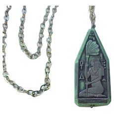 02 - Egyptian Revival Czech Necklace Goddess Isis