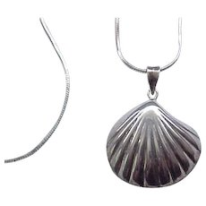 Sterling Silver Shell Necklace, Chain