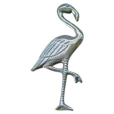 02 - Flamingo Pin Sterling Silver