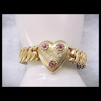 Pretty LaMode Sweetheart Expansion Bracelet - Gold Filled