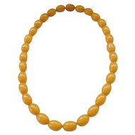 Massive Butterscotch Bakelite Necklace
