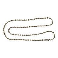 01 - 24 inch Sterling Chain Diamond Cut
