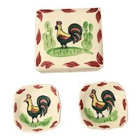 Blue Ridge Rooster Square Box, 2 Trays