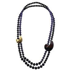 Outstanding Kunio Matsumoto Necklace - Shades of Purple