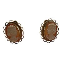 02 - Cameo Gold Filled Earrings