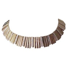 Stunning Panetta Collar Style Necklace with Dangle Earrings