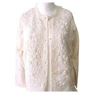 06 - Fab Vintage Beaded Sweater - 1950's/'60's -