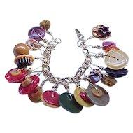 Bakelite Button Bracelet - 42 Buttons